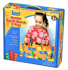 Number Puzzle Boards & Pegs