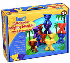 Tall-Stacker™ Mighty Monkey® Pegs & Pegboard Set