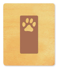 Ellison® SureCut Die - Bookmark (Paw Print), Large