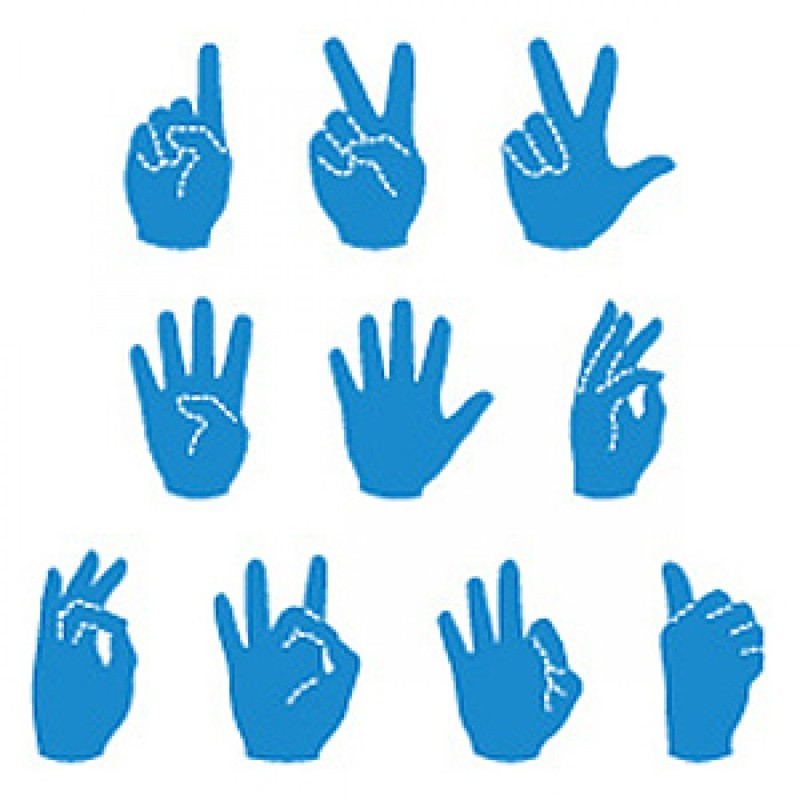 Ellison® SureCut™ Die Set - Sign Language Number Set, 5 Inch