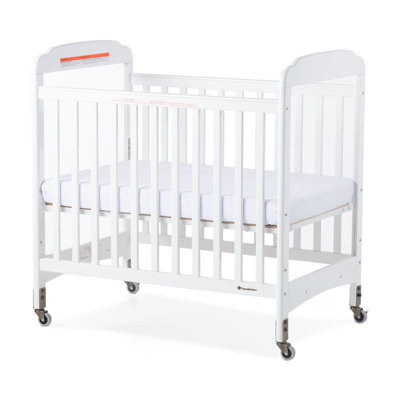 Next Gen Serenity® Compact Fixed-Side Crib, Clearview, White