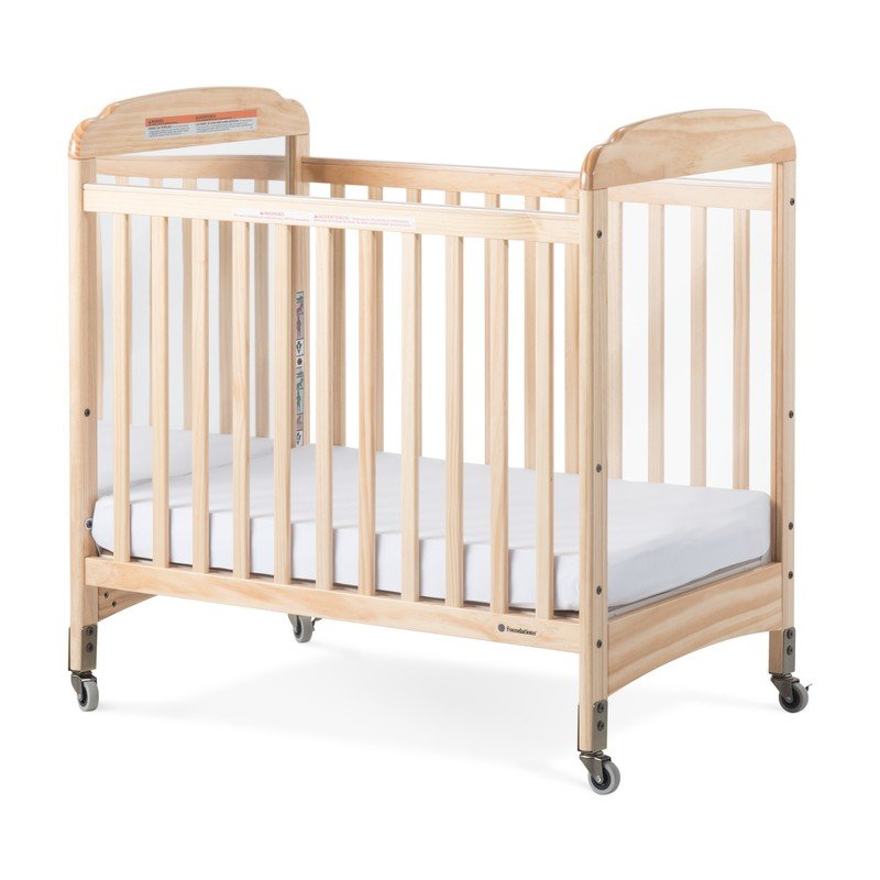 Next Gen Serenity® Compact Fixed-Side Crib, Mirror, Natural