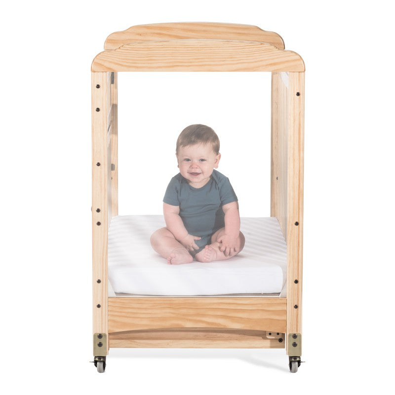 Next Gen Serenity® Compact SafeReach® Crib, Clearview, Natural