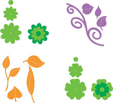 Ellison® SureCut Die Set - Flowers & Leaves (Layered), Large