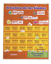 Spanish Syllables Pocket Chart With Cards
