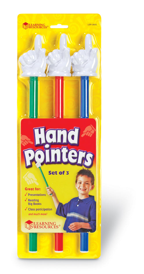 "15"" Hand Pointers, Set of 3"