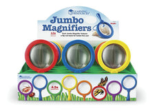 Primary Science Jumbo Magnifiers, Set of 12