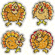 Turkeys Dazzle Stickers Super Pack