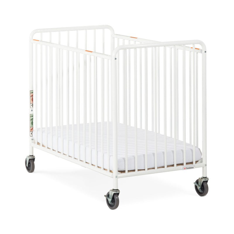 "Chelsea™ Compact Steel Non-Folding Crib, Slatted, 4"" Evacuation Casters"