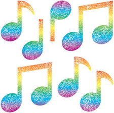 Music Notes Dazzle Stickers Super Pack