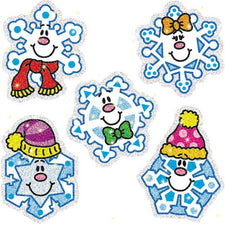 Snowflakes Dazzle Stickers Super Pack