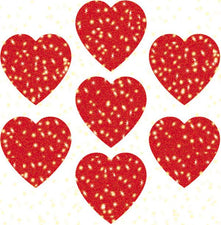 Hearts, Red Dazzle Stickers Super Pack