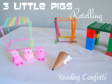 Fun Story Props for Retelling The 3 Little Pigs!