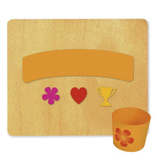 Ellison® SureCut™ Die - Cup Wrapper (Flower, Heart & Trophy), Double-Cut