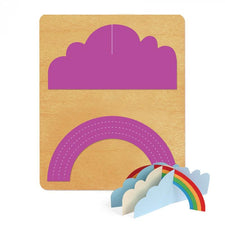 Ellison® SureCut™ Die - Jigsaw (3-D Rainbow with Cloud), Large