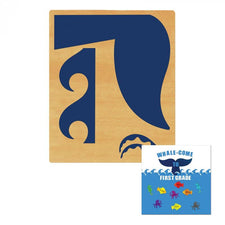 Ellison® SureCut™ Die - Bulletin Board (Whale Tail & Waves), X-Large