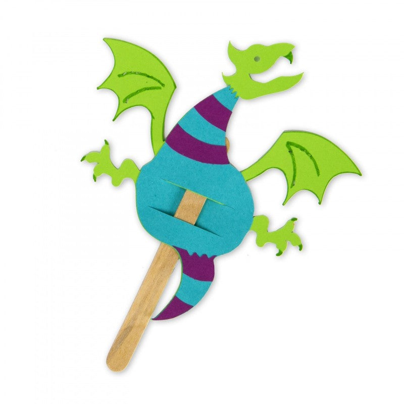 Ellison® SureCut™ Die - Finger Puppet (Dragon), Large