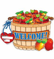 Giant Apple Basket Bulletin Board Set