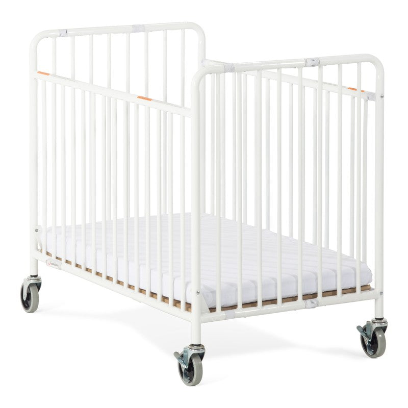 Foundations® StowAway™ Compact Metal Folding Crib with 2\