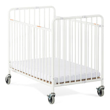 StowAway™ Compact Steel Folding Crib, White