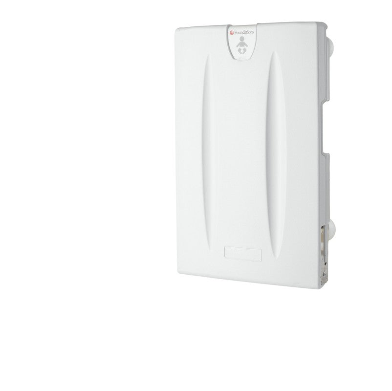 Light Gray Polyethylene Surface-Mounted Changing Station, Vertical