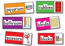 Print-Rich Classroom Labels Bulletin Board Set