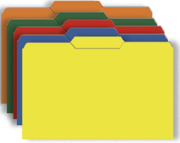 Primary Assorted File Folders Half Cut Assorted Colors 9.5 x 11.75 10Pk