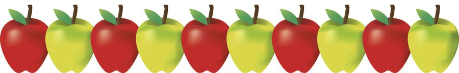 Green and Red Apples Bulletin Board Border