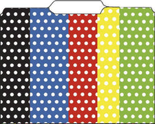 Mini File Folders Assorted Polka Dots