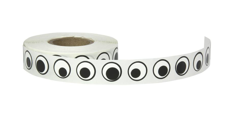 Wiggle Eyes Stickers - 1000 Pieces - Black