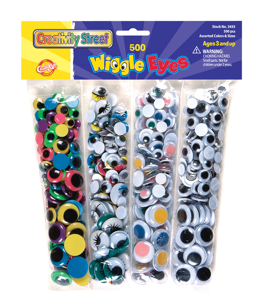 Wiggle Eyes Assortment - 500 Pieces