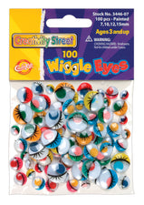 Wiggle Eyes - 100 Pieces - Painted