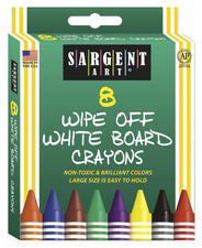 Sargent Art White Board Crayons Reg
