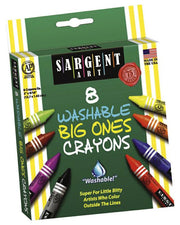 8 Count Washable Crayon Big Ones Peggable Box