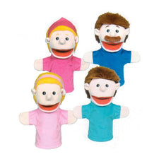 Family Bigmouth Puppets, Caucasian Family of 4