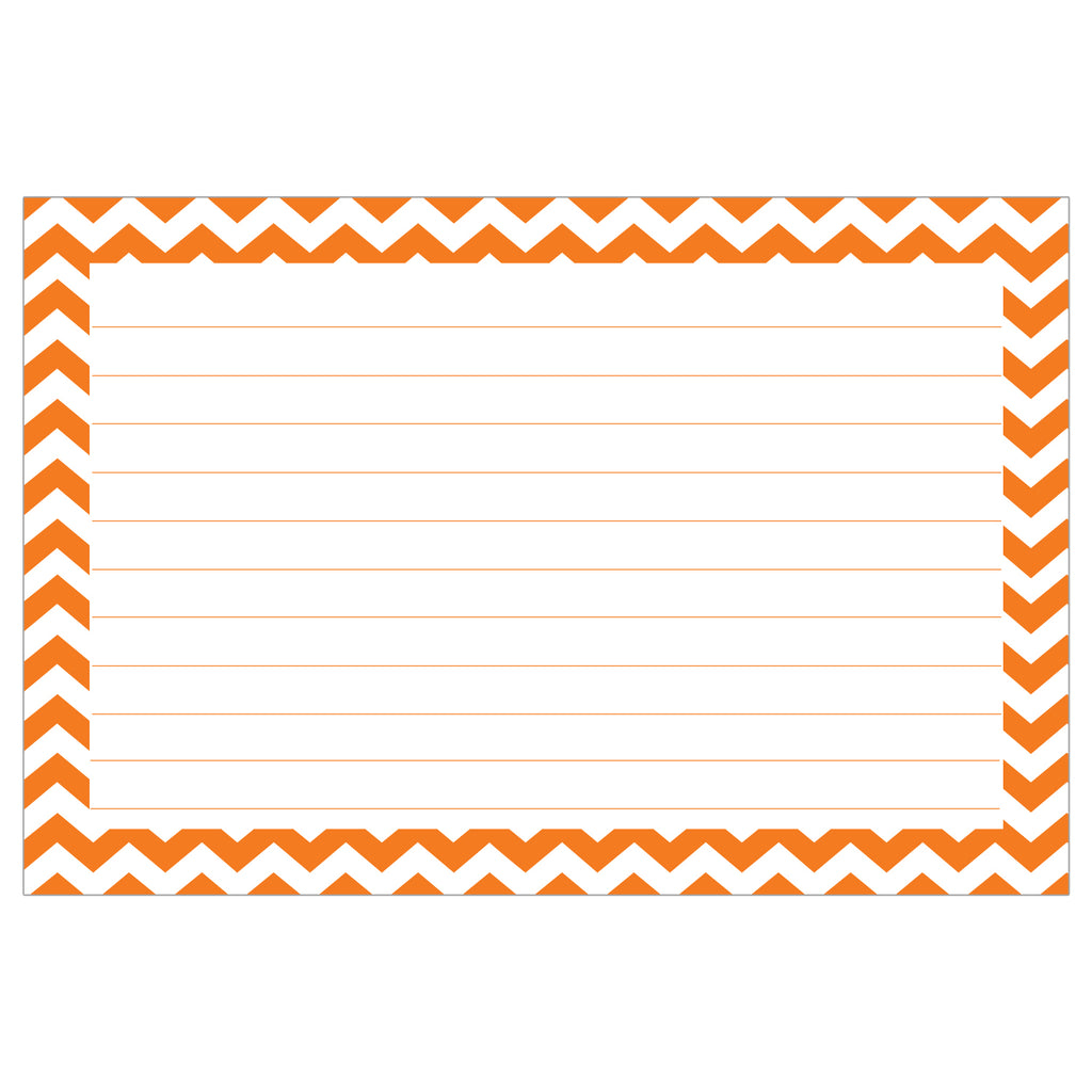 border index cards  3 x 5 lined  chevron