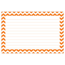 Border Index Cards, 4 x 6 Lined, Chevron