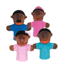 Family Bigmouth Puppets, African American Family of 4