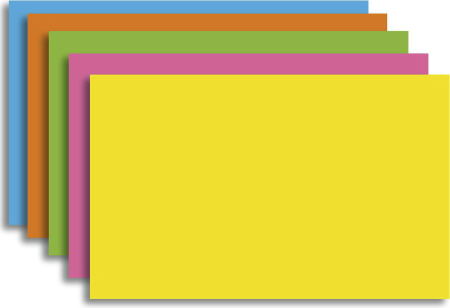 Index Cards 5 x 8 Blank 100 Count Brite Assorted