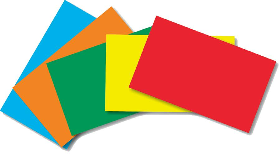 Border Index Cards 3 x 5 Blank, Primary Colors, 100 Count