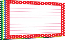 Border Index Cards 4 x 6 Polka Dot Lined