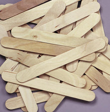 Jumbo Wood Craft Sticks - Natural - 100 Pieces
