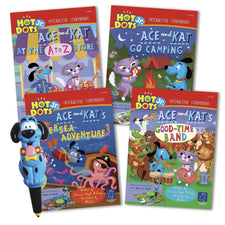 Educational Insights Hot Dots® Jr. Interactive Storybooks - 4 Book Set with Ace Pen