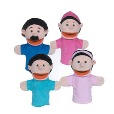 Family Bigmouth Puppets, Hispanic Family of 4