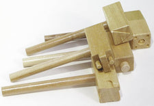 Wooden Clay Hammers - 5 Piece Assortment