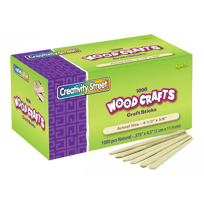 Wooden Craft Sticks - 1,000 Pieces Natural