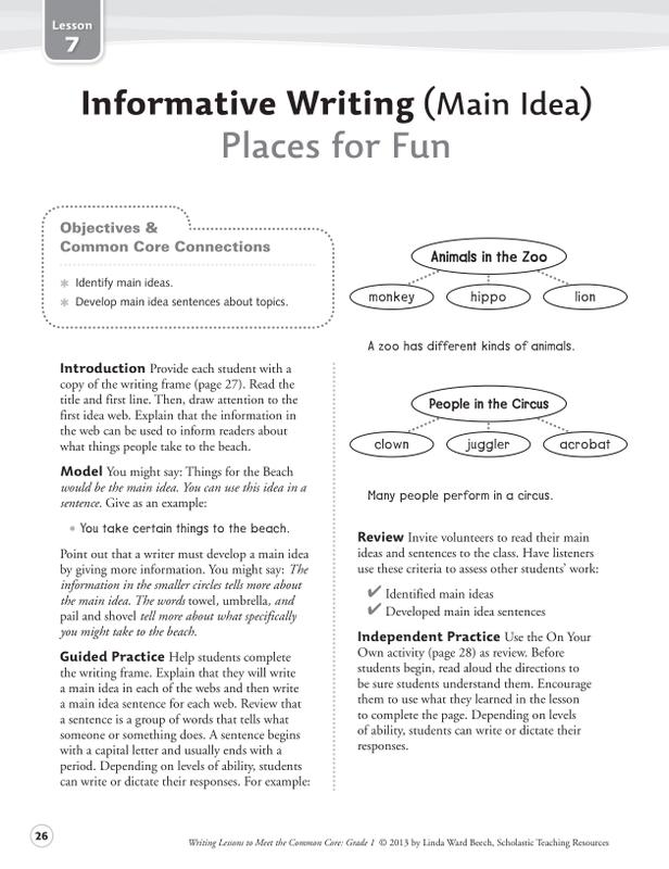 Writing Lessons To Meet The Common Core Gr 1   SC-549597 – SupplyMe