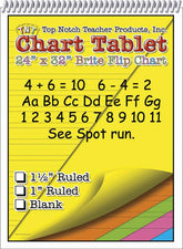 Chart Tablets 24 x 32 Assorted 1/2 Ruled
