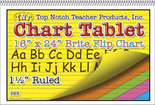 Chart Tablets 16 x 24 Assorted 1/2 Ruled