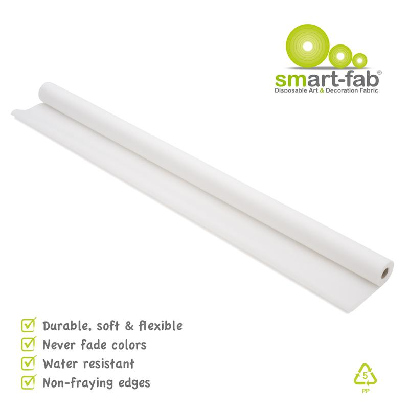 "Smart-Fab® White Fabric, 48"" x 40' Roll"